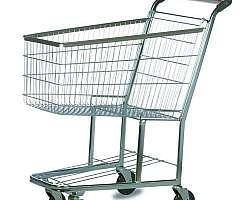 Carrinho de compras de plástico