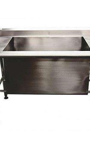 Bancada de aço inox para cozinha industrial