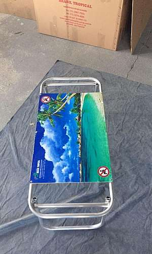 Carrinho mesa de praia alumínio