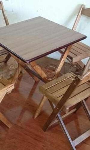 Mesa dobrável para bar