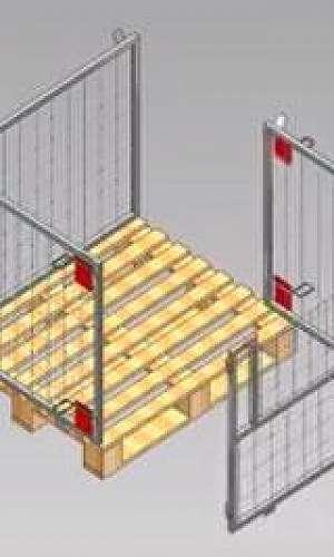 Rack metalico desmontável